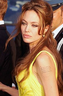 Angelina Jolie at the Grammys 2009 (http://en.wikipedia.org/wiki/Angelina_jolie)