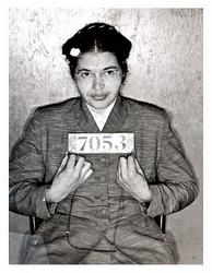 Rosa Parks' mugshot (http://www.rosaparksfacts.com/rosa-parks-pictures-photos.php?type=civil-rights)