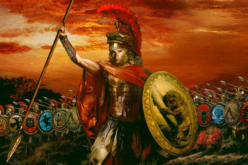 Alexander the Great about to be in battle (http://www.google.com/)