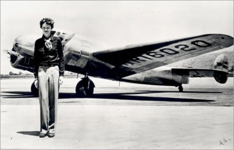 Amelia Earhart and her plane (www.wired.com/images/article/full/2008/07/earhart_630px.jpg)