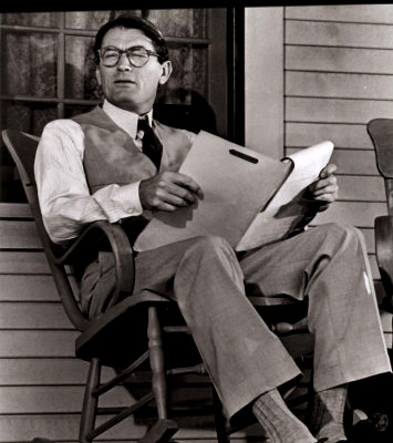 Atticus Finch played by actor Gregory Peck (http://www.empireonline.com/images/features/100greatestcharacters/photos/70.jpg)