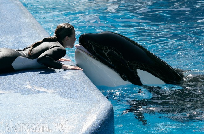 Dawn Brancheau kissing Tilikum (starcasm.net)