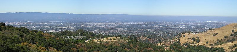 Panoramic view of Silicon Valley (http://en.wikipedia.org/wiki/File:AlumRockViewSiliconValley_w.jpg)