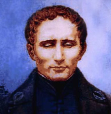 A common portrait of Louis Braille. (http://www.english-online.at/society/braille/louis_braille.jpg)