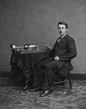 Edison and Phonograph (http://en.wikipedia.org/wiki/Thomas_Edison)