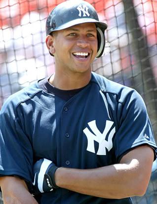Alex Rodriguez at batting practice (askmen.com)