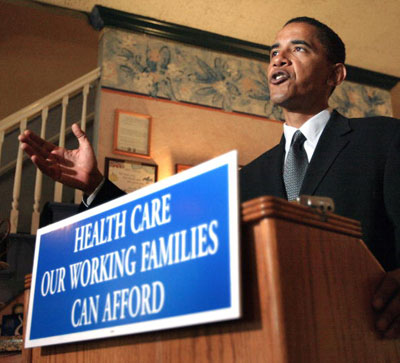 Obama speaking about the Health Care Reform (Picture By: World Press)