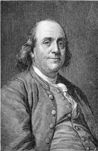 Ben Franklin (http://stevenblair.wordpress.com/2010/01/15/doing-resolutions-ben-franklin-style/)