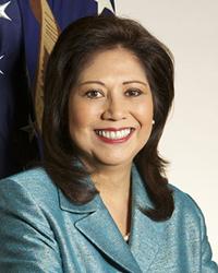 Retrato oficial de Hilda Solis (Wikipedia)