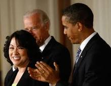 Sotomayor with President Obama and Vice-President Biden (gettyimages)