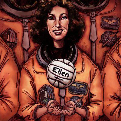 Ellen Ochoa, art by Kendra Melton (http://kmillustration.blogspot.com)