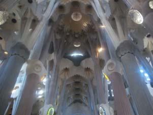 Inside La Sagrada Familia (Personal Collection)