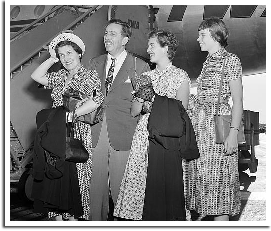 Walt, Lillian, and their two daughters. (www.progresscityusa.com)