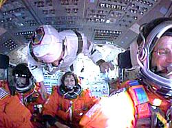 This is Ellen Ochoa's space crew.