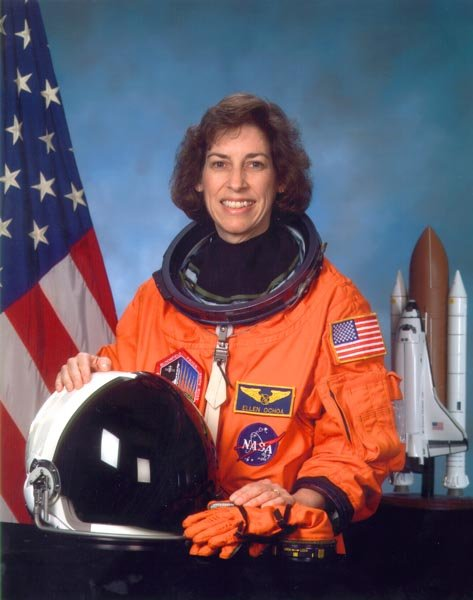 Ellen in her space suit