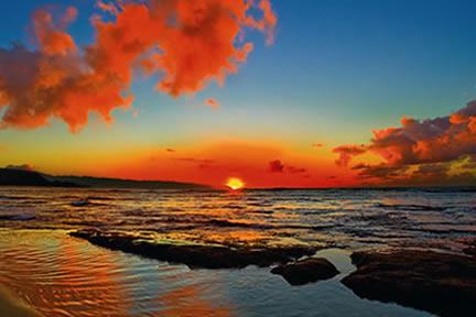 Sunset Beach, Hawaii (Aaron Chang Gallery)