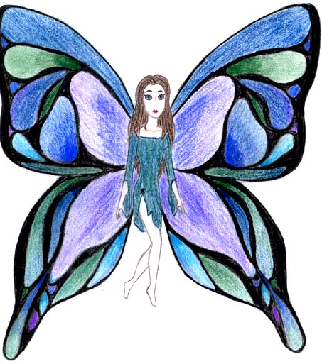 Girl With Butterfly Wings Drawing i Can Fly With ms Herring's