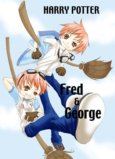 My favorite picture of Fred and George. (Google Images)