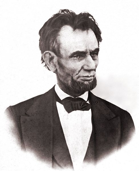 Lincoln late in his life (Wikipedia)