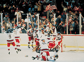 US celebrating after beating the Soviet Union (http://www.usahockey.com/ushhof/default.aspx?NAV=AF_01&id=289718&DetailedNews=yes)