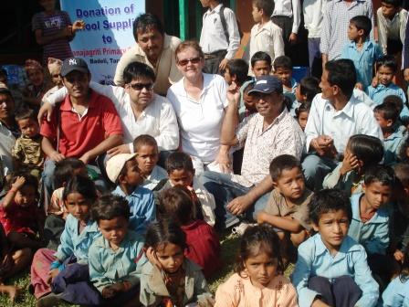 Nawaraj & Chris at Mijar Village School (taken by another teacher with my camera)