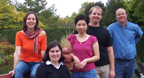 Amy Charkowski, seated, and students