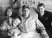 Coach Billy at the Hospital with his family (Free Lance Star)