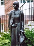 Statue of Deborah Samson Gannett at Sharon Public (photo © Mike (mlcastle) on Flickr: use permitted with attribution)