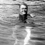 Roosevelt swimming at the Georgia Warm Springs
