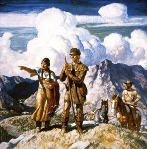 Sacagawea guiding Lewis and Clark
