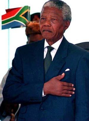 First democratically elected president by universal sufferage of South Africa  (http://www.independent.co.uk/arts-entertainment/)