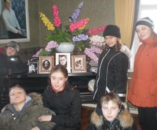 We are in Arseny Tarkovsky's Museum