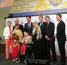 Malala,  Marc and 2011 winner Chaeli Mycroft (KidsRights  )