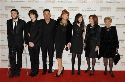 Bruce Springsteen & family Kennedy Center Honors  (AP ())