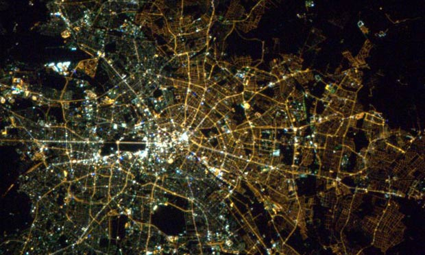 East Berlin sodium gas light bulbs West has Halide (CSA (Chris Hadfield))