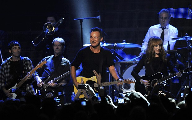 Bruce, Band, including wife Patti Scialfa (telegraph.co.uk ())