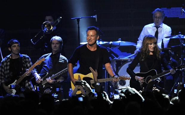 Bruce, Band, including wife Patti Scialfa (telegraph.co.uk ())