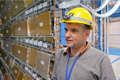 Steven Goldfarb in action at CERN (CERN)