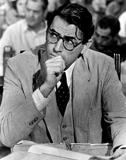 <b>Atticus Finch (actor Gregory Peck in the film, To Kill a Mockingbird, by author Harper Lee)</b>