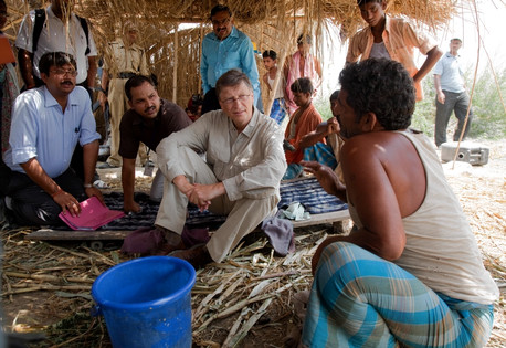 Bill and Melinda Gates Foundation working to eradicate polio in India <br>(http://blogs.wsj.com/indiarealtime/2013/11/11/bill-gates-what-i-learned-in-india/)