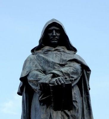 Statue dedicated to Giordano Bruno. (http://www.magnetmagazine.com/2011/04/25/the-sound ())