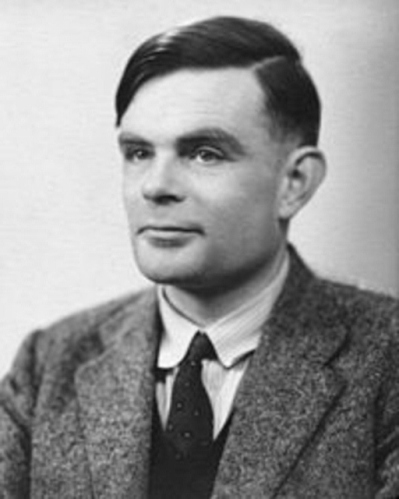Portrait of Alan Turing (The Conversation (unknown photographer))