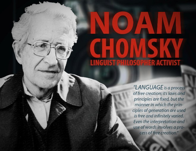 Noam Chomsky poster by Connor Bevans