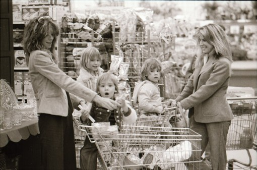 Kids in shopping carts (Photo by Doug Miller)