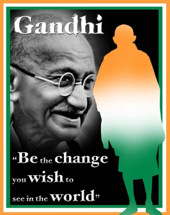 gandhi is a hero