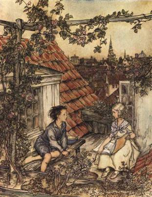 Gerda and Kai (illustration by Arthur Rackham)