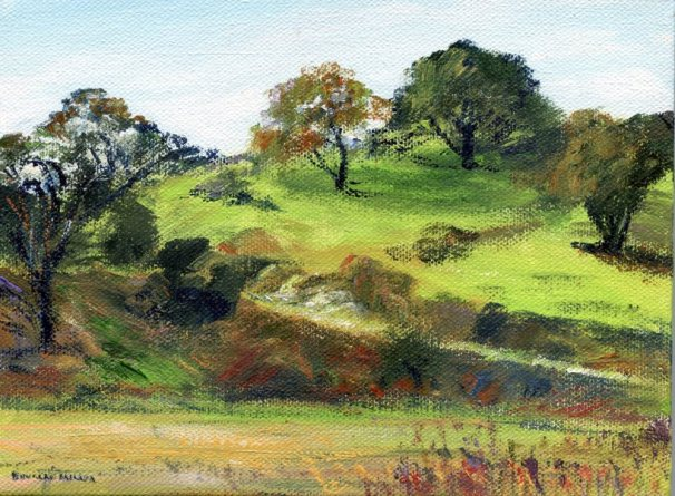 <b>Canyon Oaks, Laguna Canyon (Art by Doug Miller)</b>