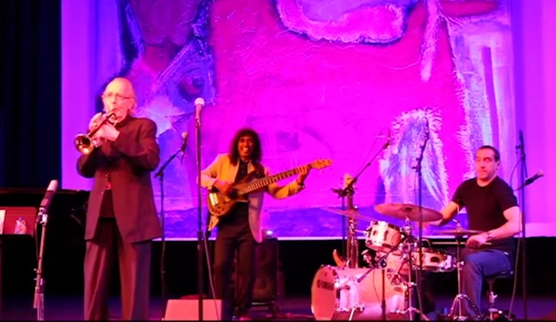 Herb Alpert and his band perform at the Herb Albert Educational Village opening celebration.