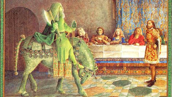 Sir Gawain and the Green Knight (illustration by Juan Wijngaard)