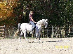 Amie is riding my horse, Rajah (Taken at the time of riding)
